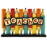 "Teacher Appreciation Gift - ""Star Teacher"" Free Standing Desk Sign"