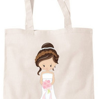 Personalised Shopping Bag Tote for Brides, Wedding Day, Honeymoon