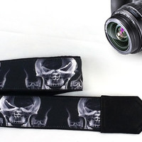 Skull Camera Strap. Halloween Camera Strap. Gift For Men