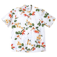 kailua white hawaiian cotton shirt