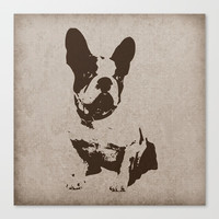 FRENCH BULLDOG IN SEPIA Canvas Print by digitaleffects
