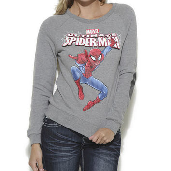 Spider-Man Elbow Patch Sweatshirt - WetSeal