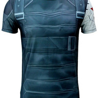 Blue Winter Soldier Short Sleeve T-Shirt