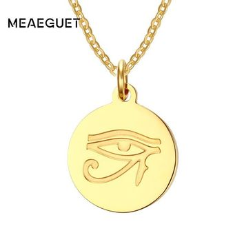 Eye of Horus Gold Pendant Necklace
