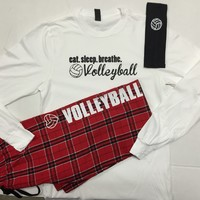 Volleyball Pajama Sets Eat.Sleep.Breathe.
