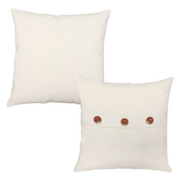Solid Color Throw Pillows - Set of 2