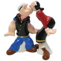 Westland Giftware Popeye Magnetic Popeye and Olive Oyl Salt and Pepper Shaker Set, 4-Inch