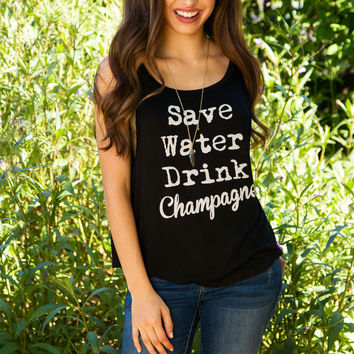 Save Water Drink Champagne Top