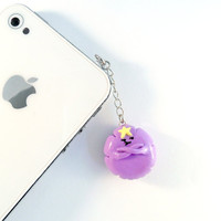LSP Lumpy Space Princess (Adventure Time) Chibi Charm Phone Charm. Dust Plug, Cell Phone Strap. For iPhone or iPod. Oh My Glob :D