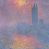 The Houses Of Parliament, London, With The Sun Breaking Through The Fog, 1904 Giclee Print Poster by Claude Monet