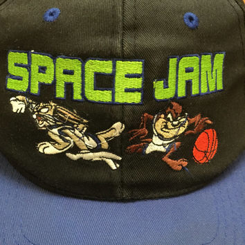Vintage 1996 Space Jam Snapback Bugs Bunny Taz Looney Tunes Tune Squad