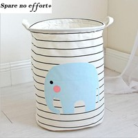Fabric Laundry Basket 30*45cm Waterproof Basket For Toys Baby Dirty Clothes Baskets Lanudry Hamper Picnic Basket Free Shipping