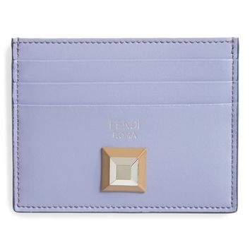 Fendi Rainbow Stud Leather Card Case | Nordstrom
