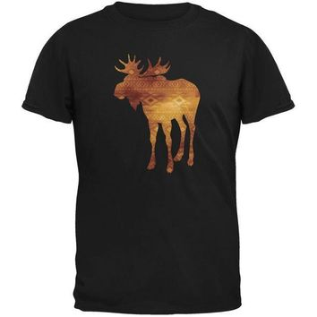 CREYCY8 Native American Spirit Moose Black Adult T-Shirt