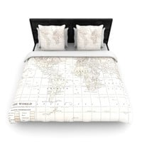 "Catherine Holcombe ""The Old World Cream"" White Woven Duvet Cover"