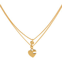 Juicy Couture Heart & Key Necklace Duo