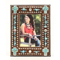 Western Moments Turquoise Stone Bling 4x6 Western Picture Frame