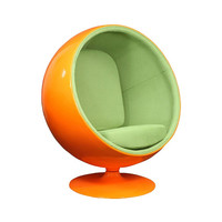 Bright Future Lounge Chair - Green on Orange