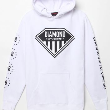 Diamond Supply Co Black Friday Striped Diamond Hoodie - Mens Hoodie - White