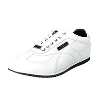 Versace Collection Men's White Leather Fashion Sneakers Shoes Sz US 8 IT 41