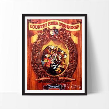Country Bear Jamboree, Disneyland Poster
