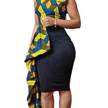 Ankara Knit Batik-Print Sleeveless Dress