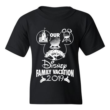 Our Disney Family Vacation 2019/2020 T-Shirt Unisex Adult and Child Customize The Year