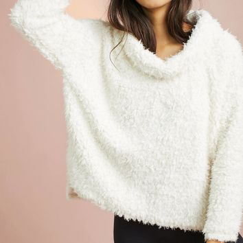 Sherpa Patch Turtleneck Pullover