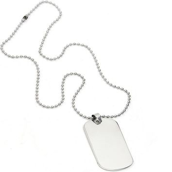 Stainless Steel Dog Tags Chain Pendant Necklace