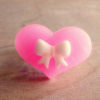 Pink Bow Heart Ring - Country Mermaids