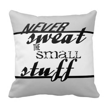modern quote pillow bold text home decor