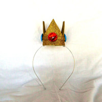 Princess Peach Crown, Gold, Mini, Tiny, Sparkle, Princess, Headband, Burlesque, Mario Bros, Child, Kid, Adult