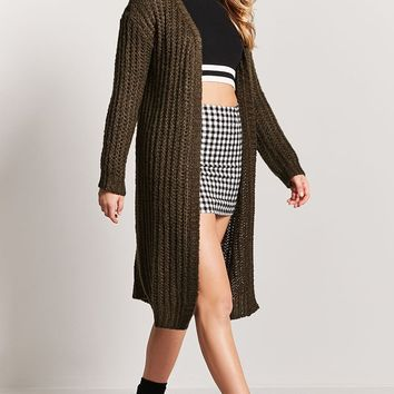 Open-Knit Longline Cardigan