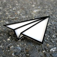 Classic Paper Airplane Pin
