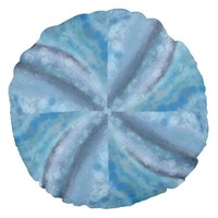 Aqua Round Throw Pillow