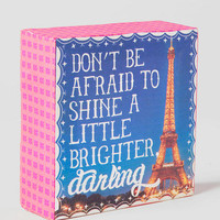 Shine A Little Brighter 4x4 Canvas Wall Art