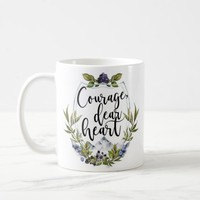 Courage Dear Heart Mug, Gifts for Bibliophiles, Gifts for Readers, Bookish Mug, Reading Mug, Bookstagram, CS Lewis Mug 211