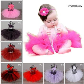 Hot Pink Newborn Baby Birthday Party Tutu Skirt Lovely Infant To