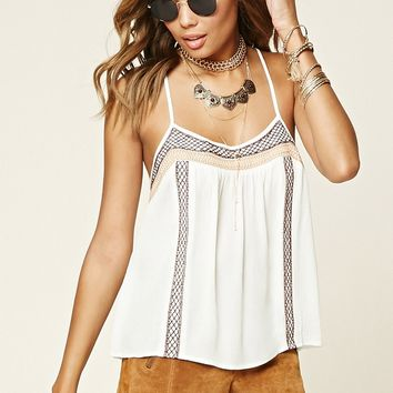 Embroidered Gauze Cami