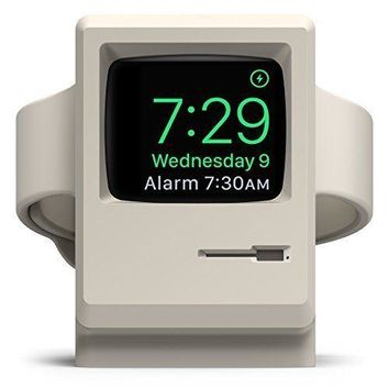 Apple Watch Dock Charging Stand Holder Station Nightstand Mode Series 1 2 White