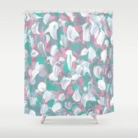 Tropical Petals Shower Curtain by Kat Mun