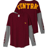 Central Michigan University Long Sleeve V-neck Tee - PINK - Victoria's Secret