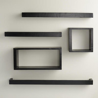 Black Rectangular Caden Wall Storage