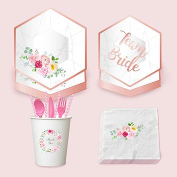 Bride To Be Theme  Sets Plates Napkins Cups Disposable Wedding Ceremony