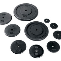 Weight Plate Pair, 1in. Standard Black