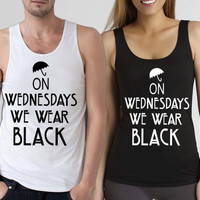 funny shirt american horror story,on wednesday we wear black tank top,available for tanktop mens and tank top woman