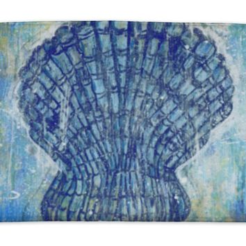 Bath Mat, Seashell Pectinidae Art Painting