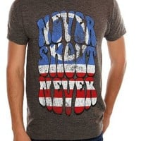Never Shout Never Peace Slim-Fit T-Shirt 2XL Size : XX-Large