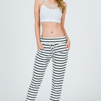 Stripe Downtown Jogger