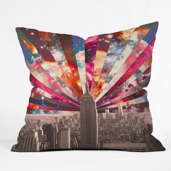 Bianca Green Superstar New York Outdoor Throw Pillow